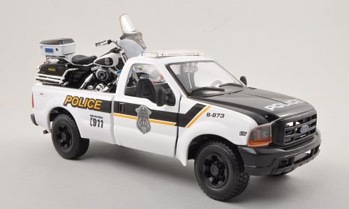 Ford + Harley Davidson F-350 Super Duty Pick Up + FLHTPI Electra Glide 1:24, Maisto