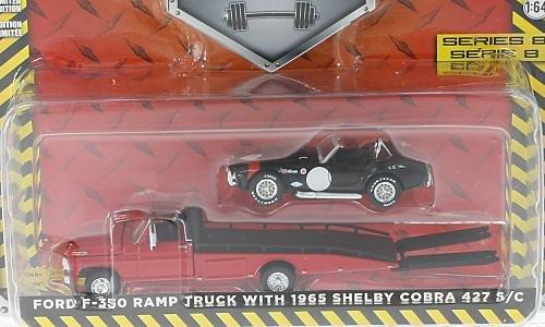 Ford F-350 Ramp Truck mit 1965 Shelby Cobra 427 S/C 1:64, Greenlight
