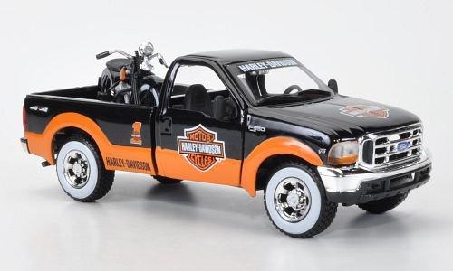 Ford + Knucklehead F-350 Pickup und EL Knucklehead 1:24, Maisto