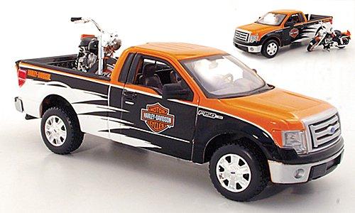 Ford + Harley Davidson F-150 STX und FLH Duo Glide 1:24, Maisto