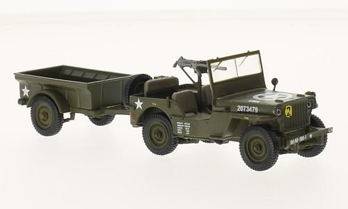 Jeep Willys MB mit Anhanger 1:43, SpecialC.-90